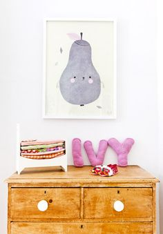 love the felted letters...easy diy idea...