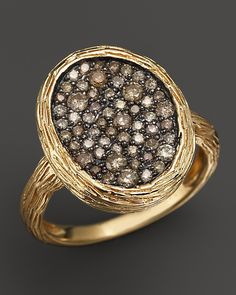 Bloomingdale's Brown Diamond Ring in 14K Yellow Gold on shopstyle.com