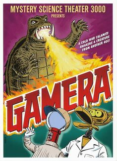 """Gamera"", Mystery Science Theater 3000 mini-poster by Steve Vance"