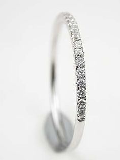 Petite Diamond Wedding Ring.. I LOVE this!  I think I have just found my wedding band.  :)