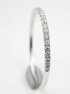 Petite Diamond Wedding Ring.. I LOVE this! I think I have just found my wedding band. :)
