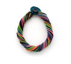 Crochet Necklace  Multicolored Necklace  Chunky  by CraftsbySigita,