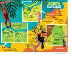 Map Borneo Sarawak