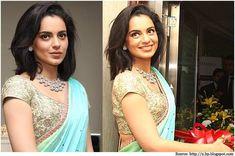 Kangana Ranaut, The Saree Goddess - Her Saree & Blouse designs