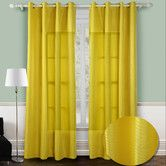 Found it at Wayfair - Chic Home Reign Jacquard Grommet Curtain Panel Pair
