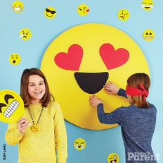 Take the fun off-line and throw this fab emoji birthday bash!