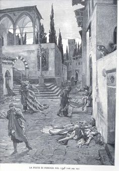 The Black Death -- The Living Hurry Past the Dead, Florence 1348