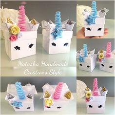 Unicorn Box Bombonire PartyFavors Birthaday