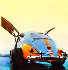 VW bug with gull wing doors