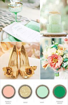 wedding aqua color palette | Wedding Color Schemes
