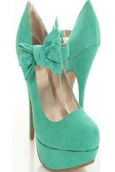 seafoam green heels