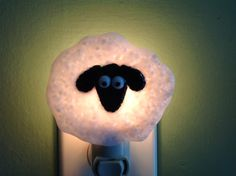 Fused Glass Sheep Night Light by LaGlasSea on Etsy