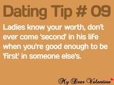 Never settle for #2 girls!! Especially in the first year!! Dating Tip #09 http://www.datemeherenow.com