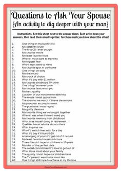questions to ask your spouse! What other questions would you add to this list? questions to ask your spouse! What other questions would you add to this list? Marriage Relationship, Happy Marriage, Marriage Advice, Love And Marriage, Relationship Challenge, Relationship Building, Strong Marriage, Relationship Repair, Marriage Games