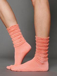 Free People Ruffle Satin Ankle Sock - so cute!