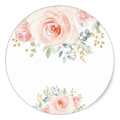 Shop Girly Blush Pink Floral Baby Shower Favor Classic Round Sticker created by BlueBunnyStudio. Pink Floral Background, Floral Border, Floral Logo, Floral Design, Floral Baby Shower, Flower Frame, Baby Shower Favors, Round Stickers, Happy Mothers Day