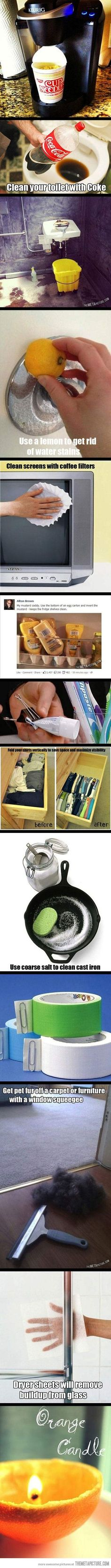 Simple cleaning tips that'll save you lots of time…