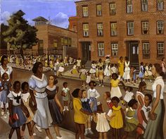 School's Out by Allan Rohan Crite at Smithsonian American Art Museum