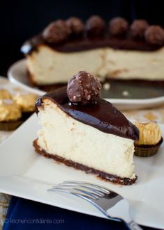 Nutella Ganache Covered Cheesecake - Kitchen Confidante