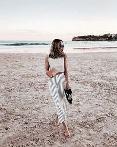 Cute Vacation Outfits, Chic Summer Outfits, Spring Summer Fashion, Men Summer, Summer Pants, Outfit Summer, Spring Style, Summer Ootd, Summer Vibes