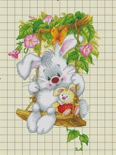 × Вышивание ~♥~ крестиком × Baby Cross Stitch Patterns, Cross Stitch For Kids, Cross Stitch Boards, Cute Cross Stitch, Cross Stitch Rose, Cross Stitch Animals, Cross Stitch Flowers, Cross Stitch Designs, Cross Stitching