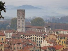 Lucca Italy.  Historic walled city in Tuscany.