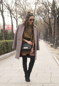Get this look: http://lb.nu/look/8567529  More looks by Besugarandspice FV: http://lb.nu/besugarandspice  Items in this look:  Sheinside Dress, Coach Bag, Mango Boots, Zara Coat   #casual #chic #street
