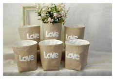 box linen 3 LOVE Letters etsy Weddings decor Set 3 (50% Deposit Available) Oatmeal Linen Bin Organizer Storage Basket Gift Wrap tagt team.