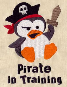 Pirate in Training | Urban Threads: Unique and Awesome Embroidery Designs