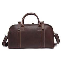 b52cf7a6dd95 Men genuine leather travel duffel leather travel bag Big leather zip around  Weekend bag FS2192