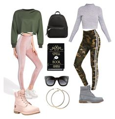 """""""FIT Entrance Project: Mix and Match"""" by camicakes18 on Polyvore featuring Timberland, MANGO, Gucci and WithChic"""