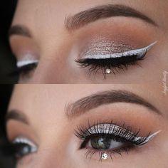 April diamond inspired birthstone makeup look