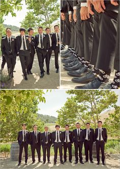 Cool napad - rovnake funny ponozky pre zenicha a jeho druzbov :) / Cool idea - same funny socks for groom and his ushers :)
