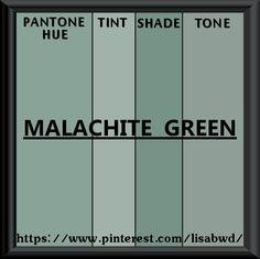 PANTONE SEASONAL COLOR SWATCH MALACHITE GREEN