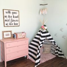 Girl woodland nursery | toddler room