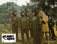 Battle for the Planet of the Apes lobby card Star Trek Cross Stitch, Pierre Boulle, Plant Of The Apes, Science Fiction, Linda Harrison, Revolution, James Whitmore, Eric Braeden, Original Movie