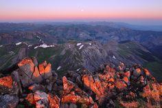 Wetterhorn Peak Summit at Sunrise, San Juan Mountains, Colorado, Photography by Jack Brauer