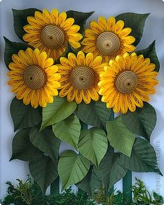 Quilled Sunflowers - inspiration only - bjl