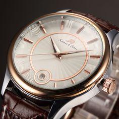 Women watchMen watch Automatic Watch Luxury Watch by HamzHandmade Brown Leather Watch, Mechanical Watch, Automatic Watch, Omega Watch, Watches For Men, Luxury, Unique Jewelry, Rose Gold, Accessories