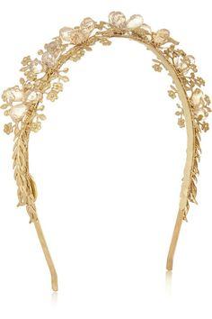 Eugenia Kim Gold & Crystal Headband