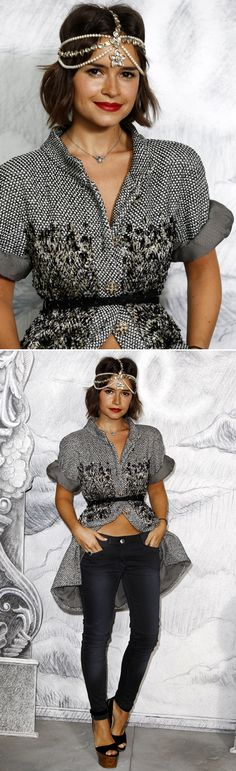 Quite a unique look, as seen at the Chanel Couture show