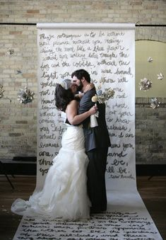Backdrop Idea: A large handwritten poem or thoughts from you two and balls of the flowers