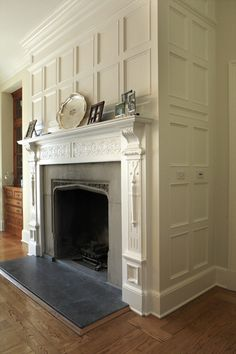 fireplace with beautiful panelling