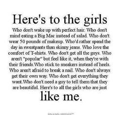 So me! But I still wear a little makeup