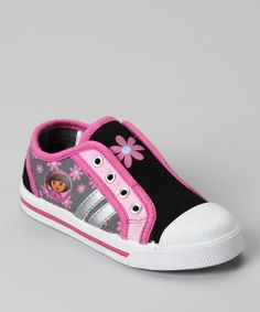 Take a look at this Pink & Black Dora The Explorer Sneaker by Nickelodeon on #zulily today!