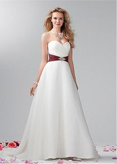 BEAUTIFUL ORGANZA SATIN A-LINE SWEETHEART NECK RAISED WAISTLINE WEDDING DRESS LACE FORMAL PROM PARTY BALL GOWN CUSTOM