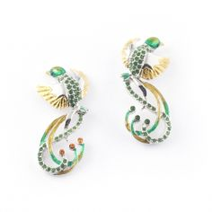 Jungle Paradise Bird Earrings