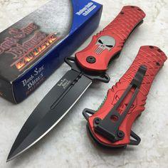 Dark Side Blades Red Punisher Fantasy Tactical Folding Rescue Pocket Knife