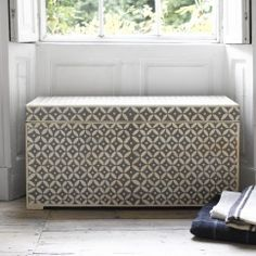 Indian Dowry box in grey and white
