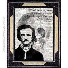 dictionary print edgar allan poe and virginia open heart steampunk art print on dictionary book page - Prints On Old Book Pages